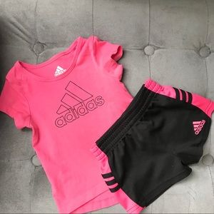 GUC Adidas Pink 2 piece outfit size 9 months